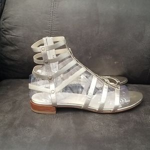 Stuart Weitzman gold gladiator sandal